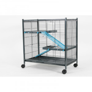 Cage INDOOR mini loft bleu
